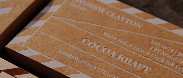 Craft Business cards, recycled paper