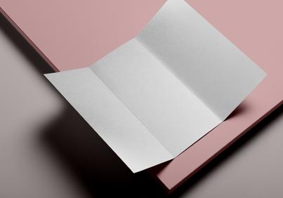 matte textured brochure paper